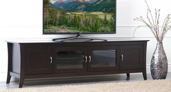 Enjoy a good movie with friends this weekend with the beautiful Abbyson Cambridge Entertainment Console!