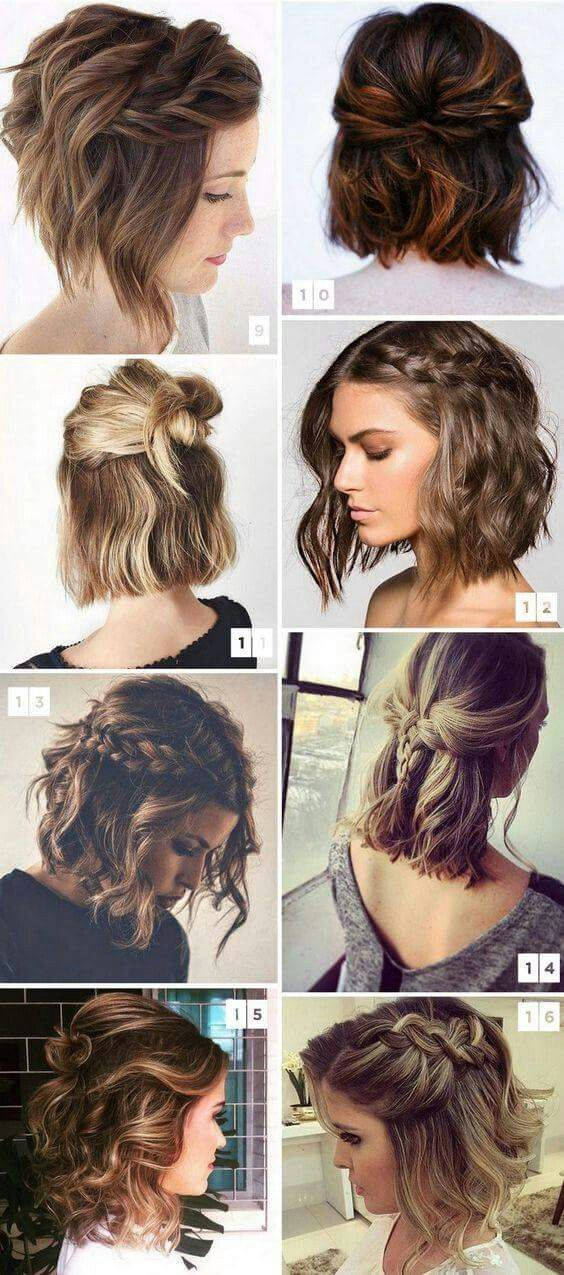 Updos For Medium Length Hair Cute Hairstyles For Short Hair Short Hair Styles Hair Styles
