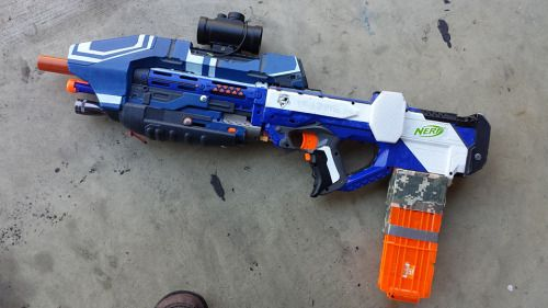 DIY NERF Rayven Halo MA5D Mod: Foam Dart Evolved:... - Geek gifts