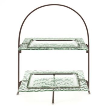 Bobby Flay Hammered 2-Tier Serving Rack