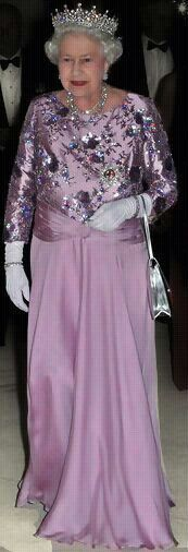 Queen Elizabeth stunning in light Purple