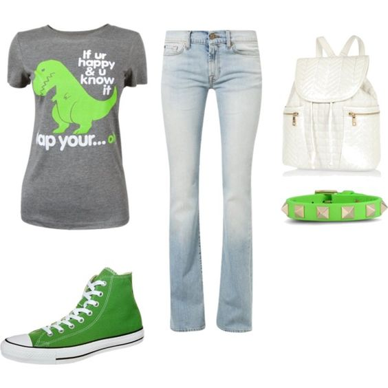 """If your happy and your green clap your..... oh"" by degrees18 on Polyvore"