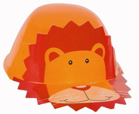 One size fits most children.  Orange lion hat comes 1 per package.  Not recommended for children under 3 years.