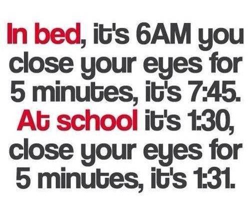 God more sleep less school