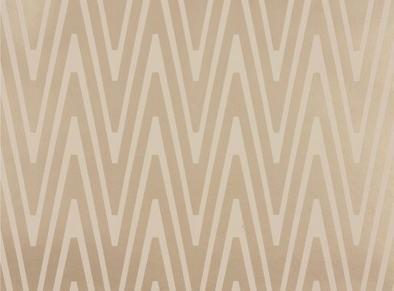 Mimas Wallpaper Ivory - love the flame stitch quality of the paper....