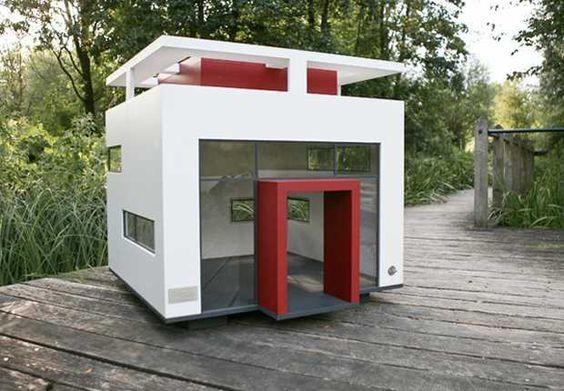Amazing custom dog house. Modern cubix dog house. Amazing Dog Houses and Adorable Puppies to Pin