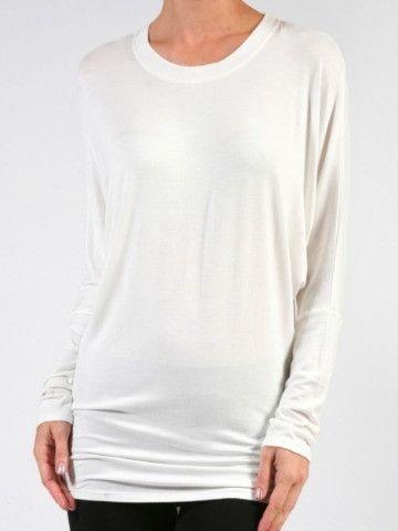 Soft Tunic in White | Wardrobe Essential from Sassyshortcake.com