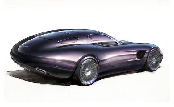 Maserati Mostro (Zagato), 2015 - Design Sketch by Norihiko Harada