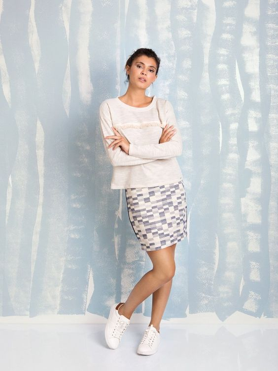 COQUELICOT square skirt