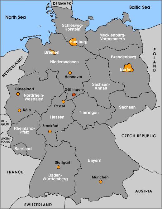 Gttingen Deutschlandkarte Deutschlandkarte Gttingen Mit Bildern