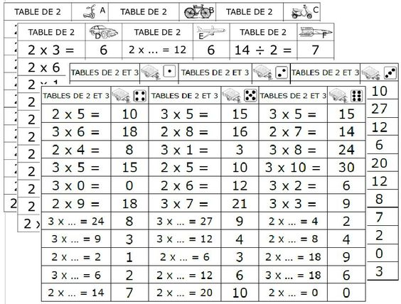 Permis de multiplier d pliants maths calcul mental - Calcul mental table de multiplication ...