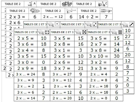 permis de multiplier d 233 pliants maths calcul mental