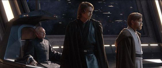 Another shoot showing anakin's double tabbards and obi-wan's tabbard that over laps.