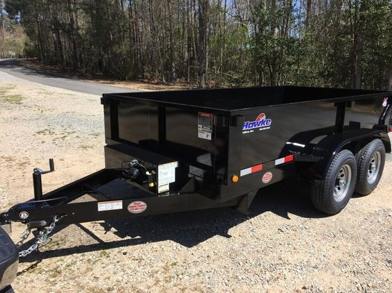 Check Out This Amazing 6ft X 12ft Hawke Dump Trailer Heavy Duty 5 Ton Scissors Lift Ramps Barn Doors Cargo F Dump Trailers Horse Trailers For Sale Trailer