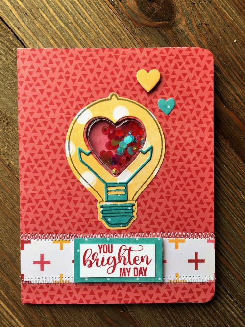 You Brighten My Day Card by Patty Folchert featuring Jillibean Soup Shape Shakers and Souper Celebration: