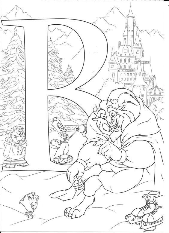 Pin By Candace Rippeto On Disney Coloring Pages Abc Coloring