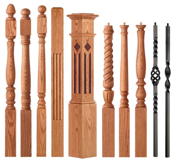 Beautiful Interior Staircase Ideas And Newel Post Designs: Railings, Spindels And Newel Posts For Stairs