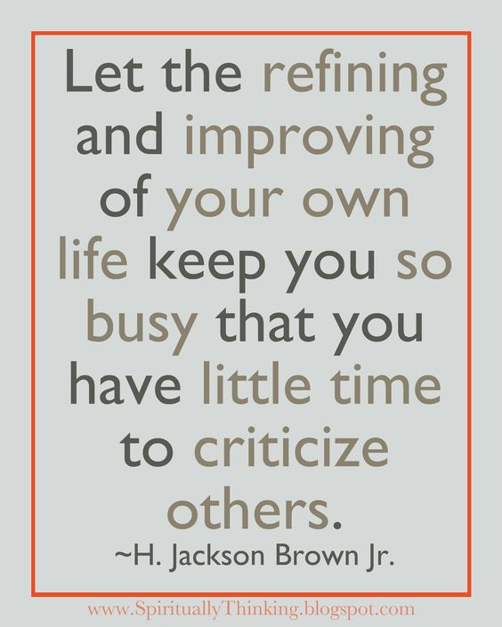 Refine your own life:
