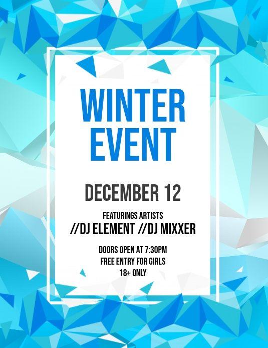 Winter Event Flyer Event Flyer Winter Event Event Flyer Templates