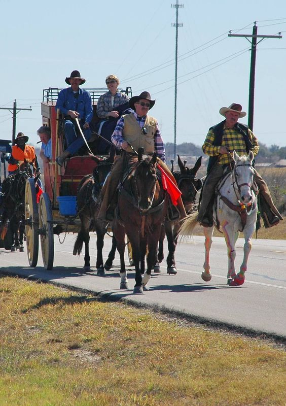 Every year, at the end of January or the beginning of February, the South Texas Trail Riders pass through Karnes City/County on their way to the rodeo in San Antonio.