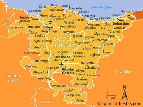 carte du pays basque espagnol Basque Country | Basque, Euskadi