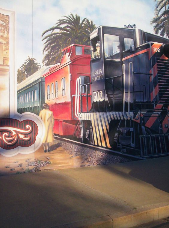 train mural on wall exeter ca mural pinterest cas