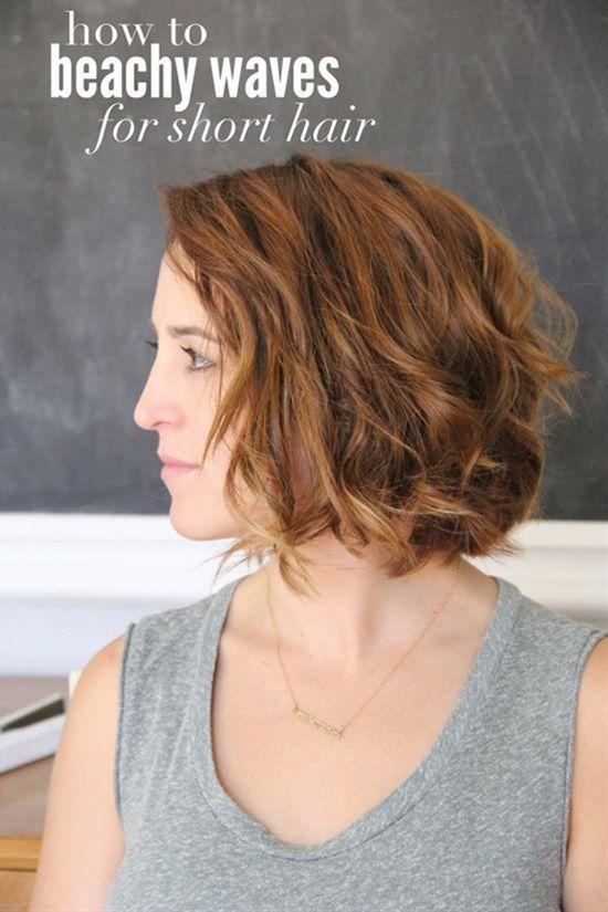 Beach Waves Short Hairstyle Beach Waves For Short Hair Short Hair Waves Short Hair Styles