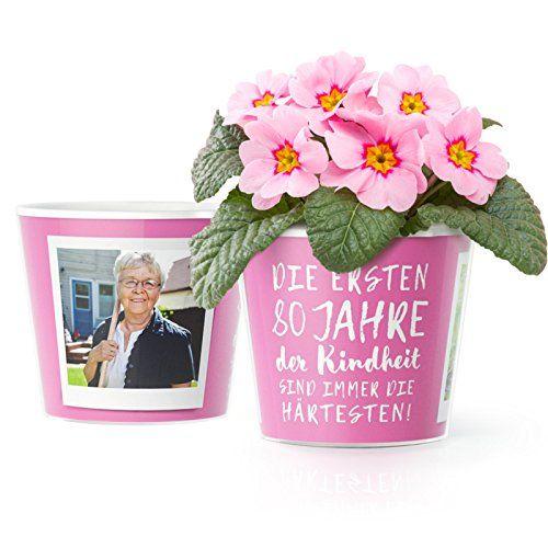 80 Geburtstag Geschenk Blumentopf O16cm Lustige