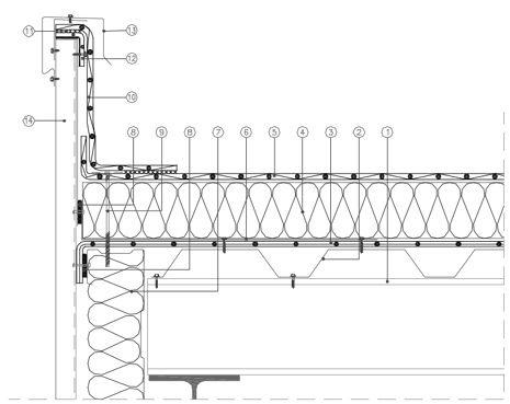 acrot re relev sous couvertine avec t le plast e toiture chaude archi structural pinterest. Black Bedroom Furniture Sets. Home Design Ideas