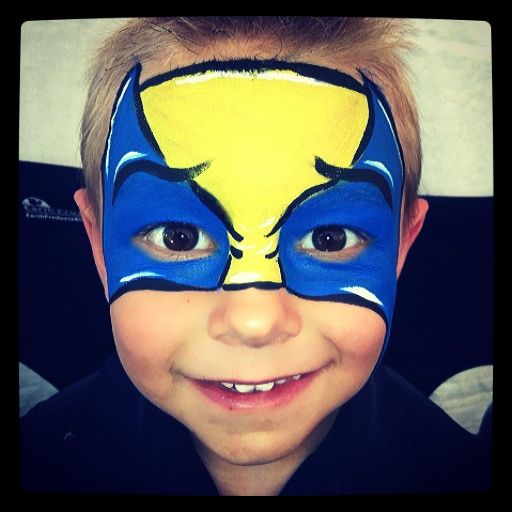 Easy Wolverine Mask. His smile was just the BEST. X,Men Superhero face