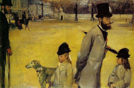 """Retrospectiva 2014 - História da obra de arte: Edgar Degas - """"Place de la Concorde"""" - 1875 http://designmuitomais.blogspot.com.br/2015/01/retrospectiva-2014-historia-da-obra-de.html"""