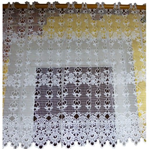 Firana Z Gipiury Wys 140 Cm Biala Poliester Glb Home Decor Quilts Decor