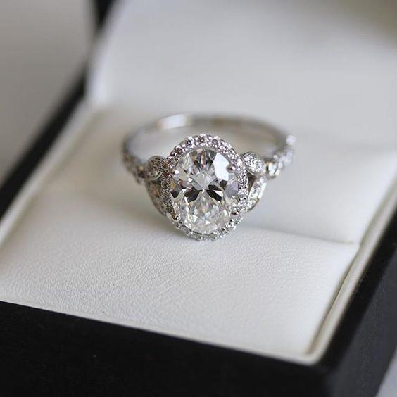 Single Halo Wedding Ring