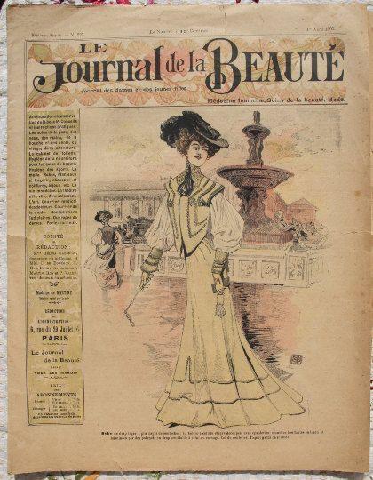 Paris 1902 Le Journal de la Beauté, French antique fashion magazine, victorian fashion
