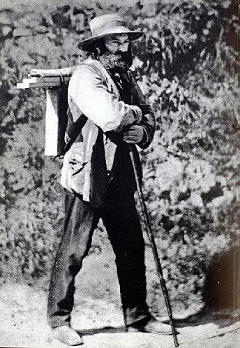 """""""a su padre han tenido que traerlo a casa en una carreta de lavanderas por haber estado varias horas bajo la lluvia buscando sensaciones para su pintura y, al día siguiente, de madrugada, ha ido a trabajar a un jardín, bajo un tilo, volviendo moribundo"""". Carta de Marie Cézanne, a su sobrino, el hijo de Paul, en la foto."""