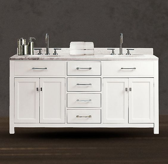 Restoration Hardware Bathroom Vanity Knockoff: Pinterest • The World's Catalog Of Ideas