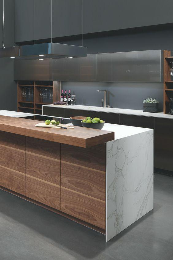 Arbeitsplatte aus Marmor Die schönsten Küchen-Ideen mit Bildern - arbeitsplatte küche beton preis