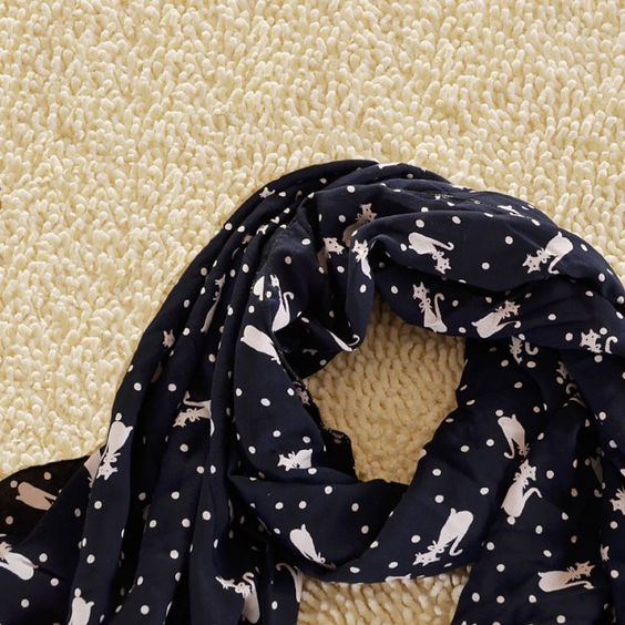 Lovely Cute Little Fox's Voile Infinity Scarf for only $24.99 ,cheap Fashion Scarves - Clothing & Apparel online shopping,Lovely Cute Little Fox's Voile Infinity Scarf