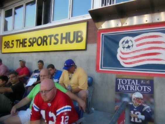 In front of the Radio Broadcasting Booth at Gillette Stadium