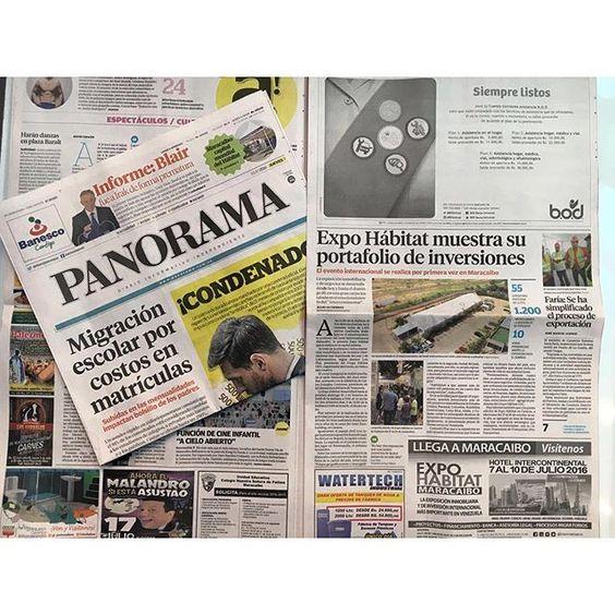 Gracias al @diariopanorama por el apoyo en la inauguración de #ExpoHábitatMaracaibo  #expohabitat #expohabitatintl #maracaibo #zulia #venezuela
