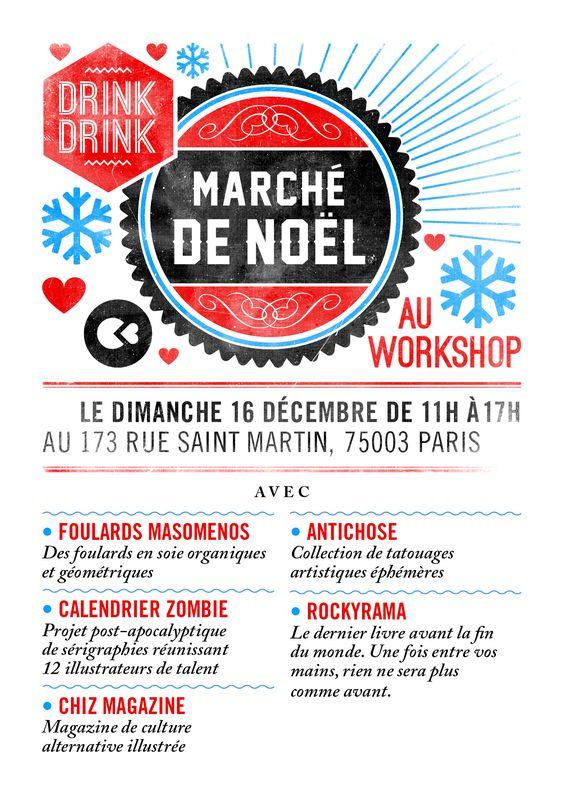 Marché de Noël au workshop - Paris