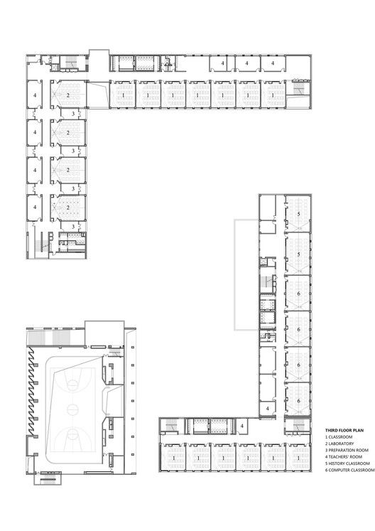 Gallery Of School With An Open Space Beijing Institute Of Architectural Design 6th Division 31 School Floor Plan School Building Design School Building Plans