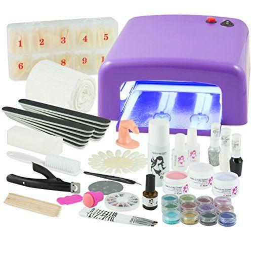 Kit De Manucure Nail Art Professionnel Complet Lampe Uv 36w Violette 4 Ampoules Gels Uv 3 Et Tous Les Accessoires Pour Les Ongles Format Xxxl Pour