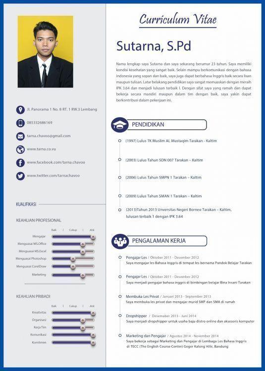 Format Resume Yang Menarik Resumeformat Cv Kreatif Creative Cv Template Desain Resume