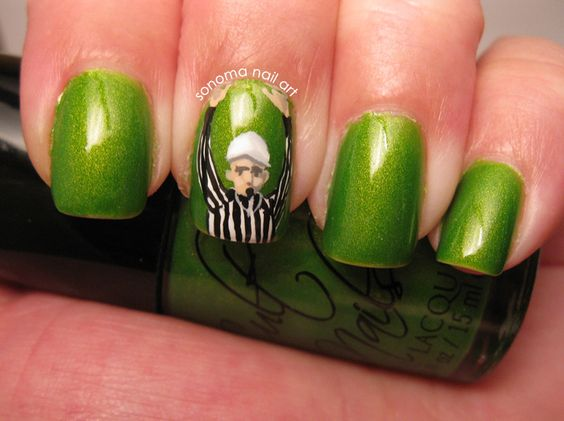 """Touchdown! Cult Nails Deal With It and """"Bad Call Bill"""" #CultNails #JointheCult"""