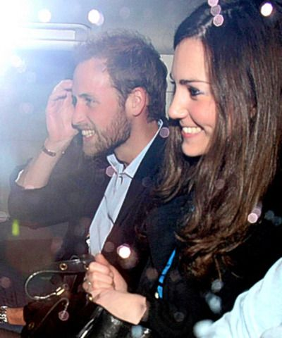 Kate and a bearded Prince William: