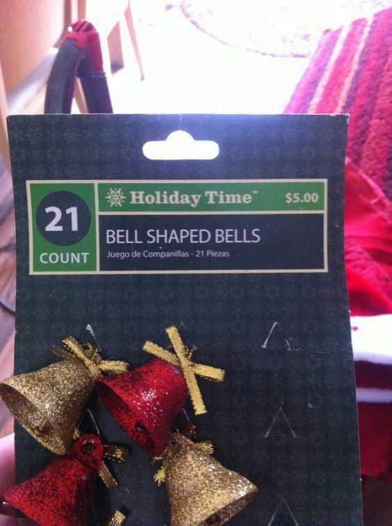 Bell-shaped bells. #christmas #decorating