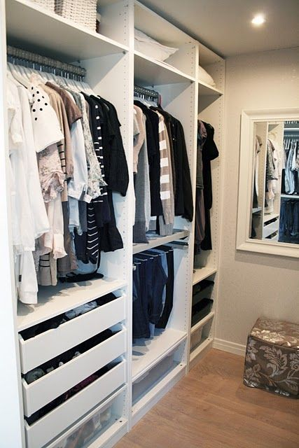 Organized closet my dream one day home pinterest for Walk in closet organizer ikea