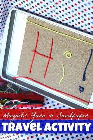 Magnetic Yarn & Sandpaper Travel Activity