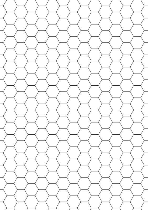 Hexagonal Graph Paper graph paper Pinterest - hexagonal graph paper template